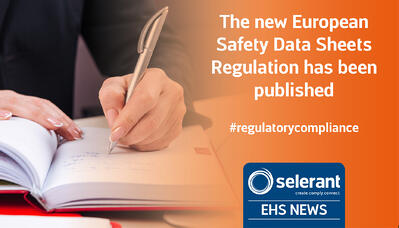 The new European Safety Data Sheets Regulation has been published