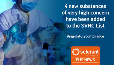 4 new substances of very high concern have been added to the SVHC List