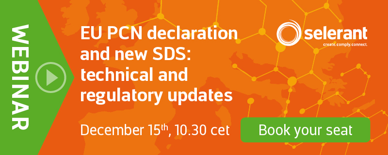 EHS Webinar - EU PCN declaration and new SDS: technical and regulatory updates - Book your seat