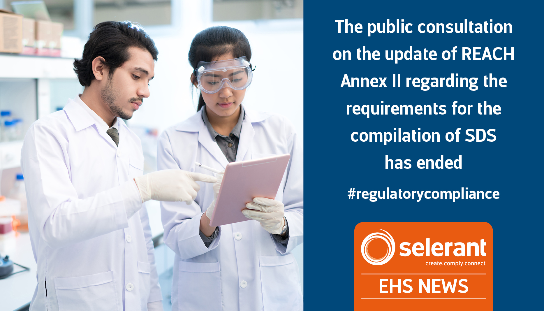 The public consultation on the update of REACH Annex II regarding the requirements for the compilation of SDS has ended