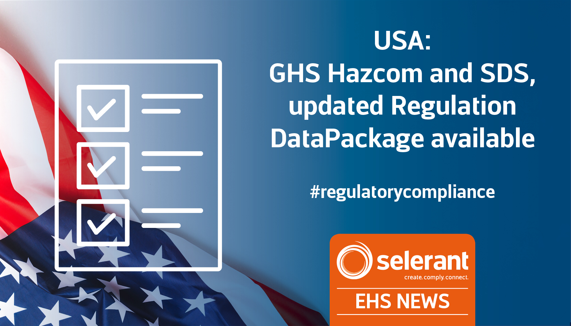 USA: GHS Hazcom and SDS, updated Regulation DataPackage available