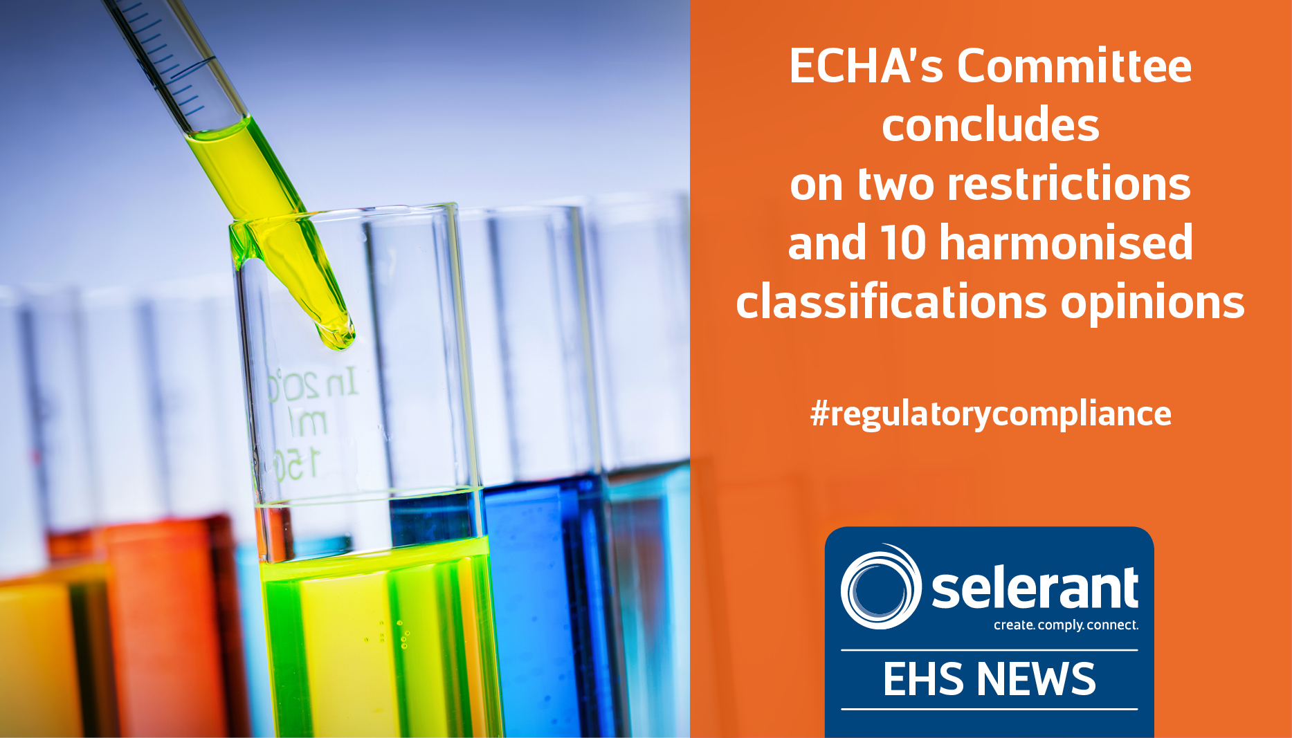 ECHA's Committee concludes on two restriction and 10 harmonised classifications opinions